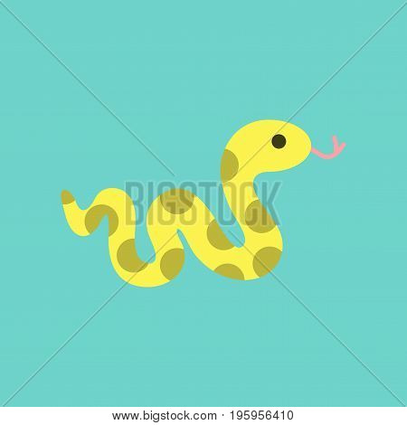 flat icon on stylish background reptile snake