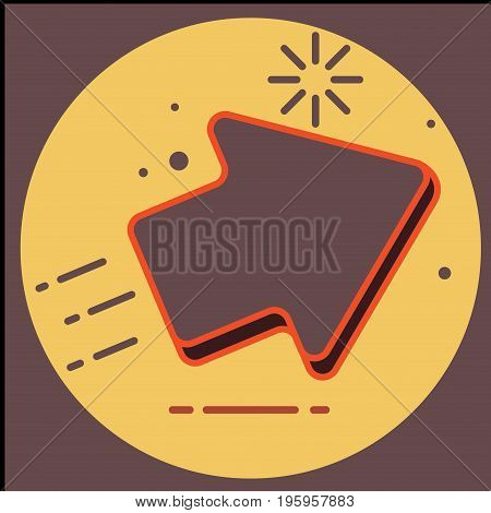 Arrow Icon in trendy flat style isolated on grey background. Arrow symbol for your web site design, logo, app, UI.