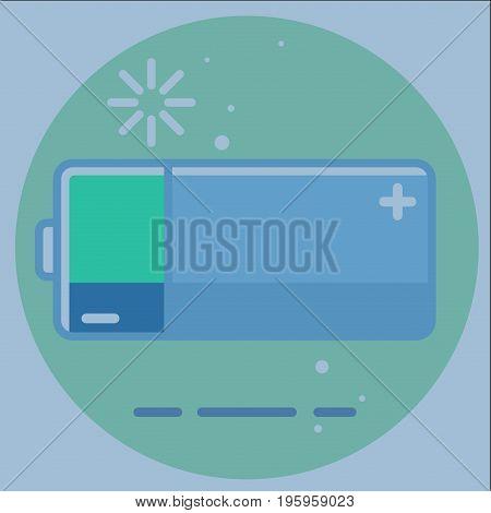 battery energy Charging icon illustration art rasterized