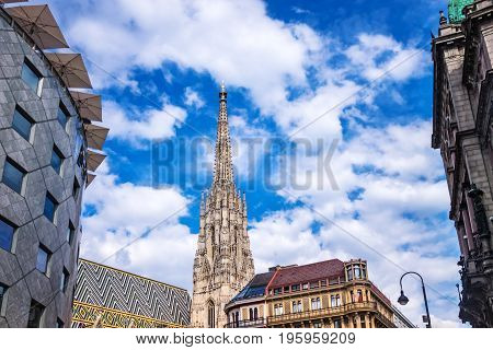 St. Stephens Cathedral Vienna landmark and place of interest at central vienna