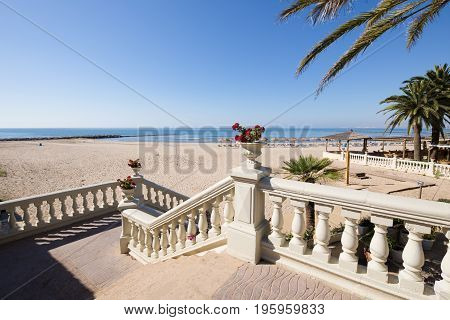 Classic Stairs Towards Voramar Beach In Benicassim