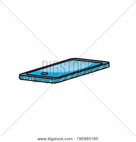 technology smartphone to electronic communication vector illustration