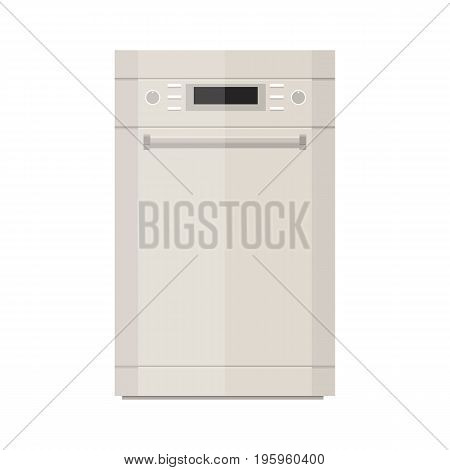 Dishwasher icon vector illustration in flat style