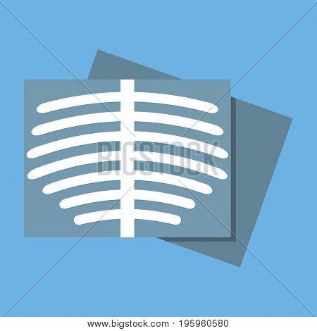body Roentgen icon vector illustration in flat style