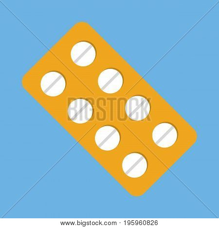 Pills medicine icon vector illustration in flat style