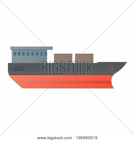 Vector illustration oil tanker icon vector illustration in flat style