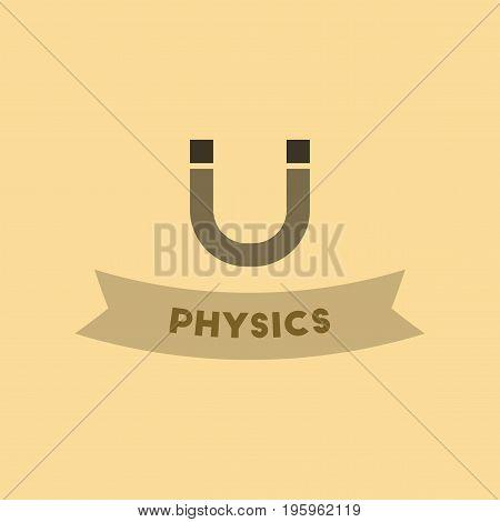 flat icon on stylish background physics lesson