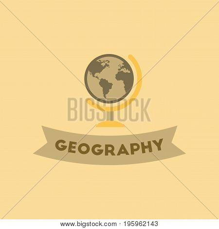 flat icon on stylish background geography lesson