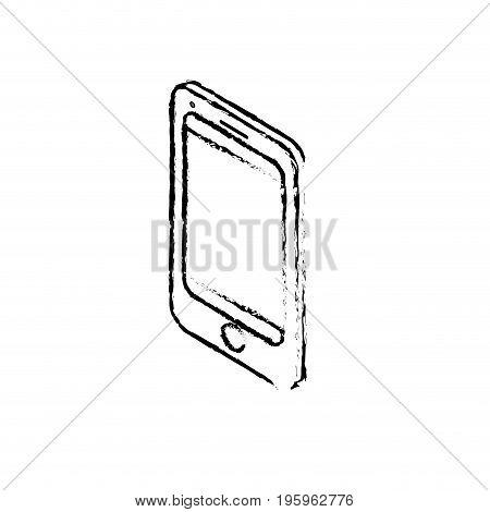 figure technology smartphone to electronic communication vector illustration