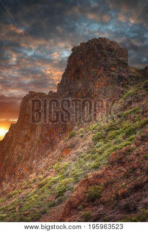 Mountains Near Teide Volcano