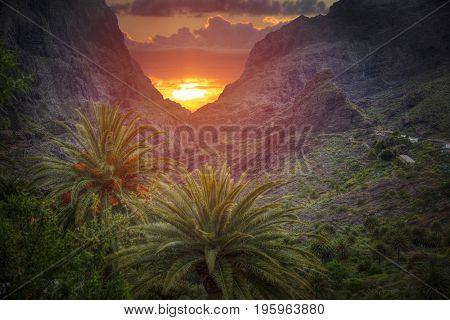 island of Tenerife. Mountains near Teide volcano. Spain