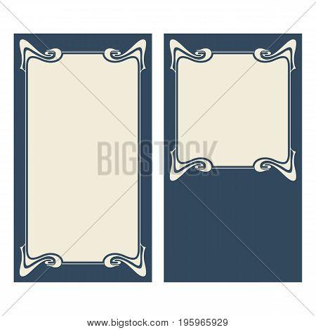 Vector Art Deco Invitation Cards.