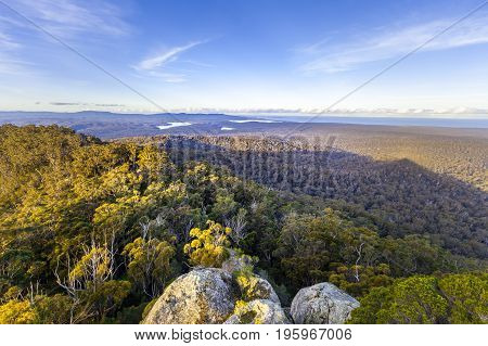 Croajingolong National Park landscape viewed from Genoa Peak, Australia
