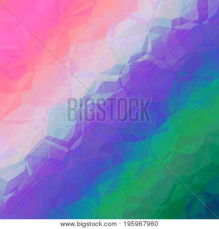 Pink Violet Blue Green Abstract Geometrical Background Design Graphic