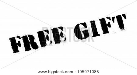 Free Gift rubber stamp. Grunge design with dust scratches. Effects can be easily removed for a clean, crisp look. Color is easily changed.