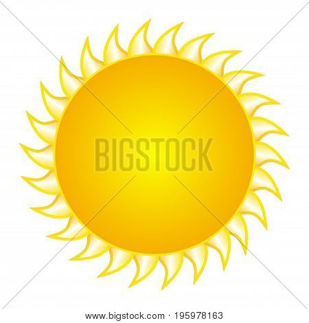 The design of the sun on a white background