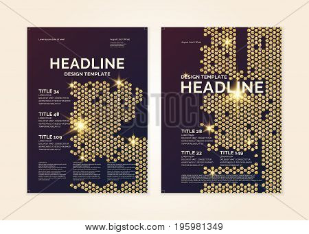 Brochure template for business and cover modern journal. Vector graphics.