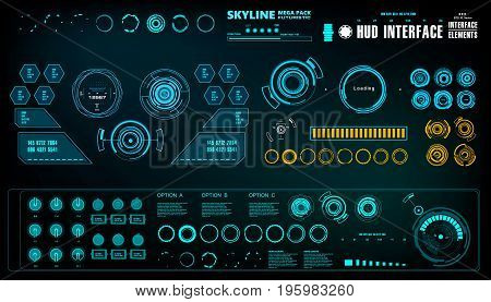 Futuristic virtual graphic touch user interface, target