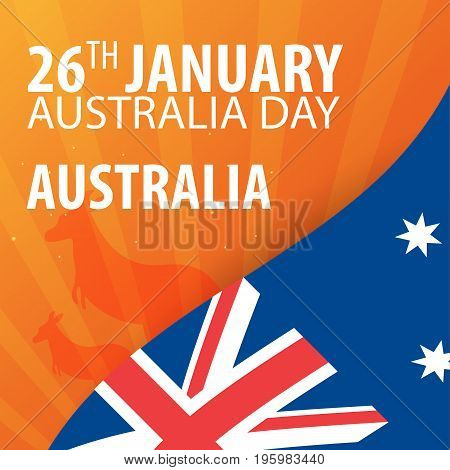 Independence Day Of Australia. Flag And Patriotic Banner. Vector Illustration.