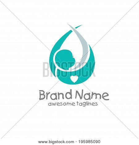 soft and elegant newborn baby logo concept