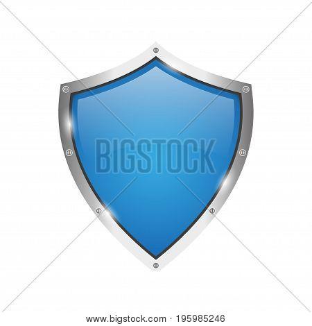 Shield icon. Anti-virus protection on a white background