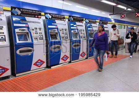 Metro Ticket Machines
