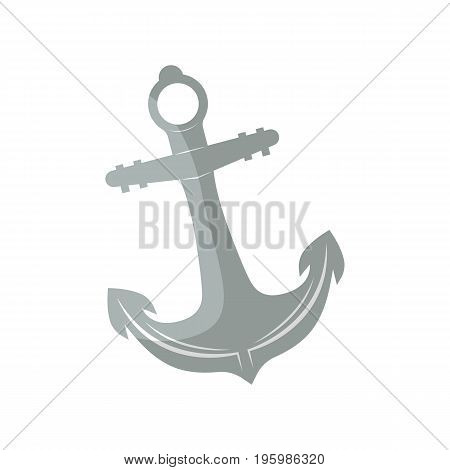 Anchor for boat icon. Fishing equipment, outdoor traveling, lake vacation, fishing or hunting hobby isolated vector illustration in flat design.