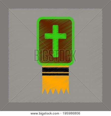 flat shading style icon of Bible book