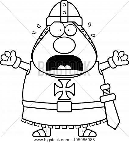 Scared Cartoon Templar