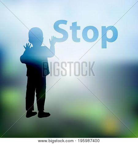 Stop Gently Children Violence. Logo
