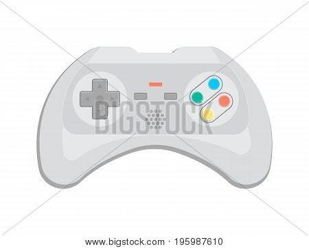 Electronic device for video game icon in cartoon style. Game gadget, cybersport digital device, wireless gamepad or joypad isolated vector illustration.