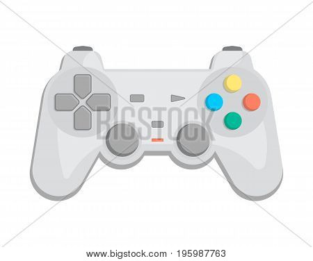 Wireless joypad for game console icon in cartoon style. Game gadget, cybersport digital device, control console, video game isolated vector illustration.