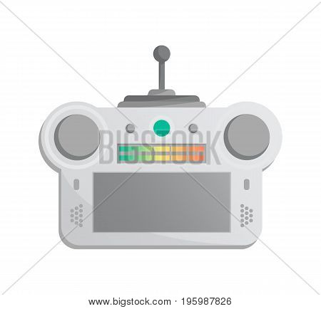 Electronic gadget for game console icon in cartoon style. Game gadget, cybersport digital device, wireless gamepad or joypad isolated vector illustration.