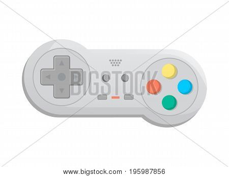 Modern wireless joystick for game console icon in cartoon style. Game gadget, cybersport digital device, control console, video game isolated vector illustration.