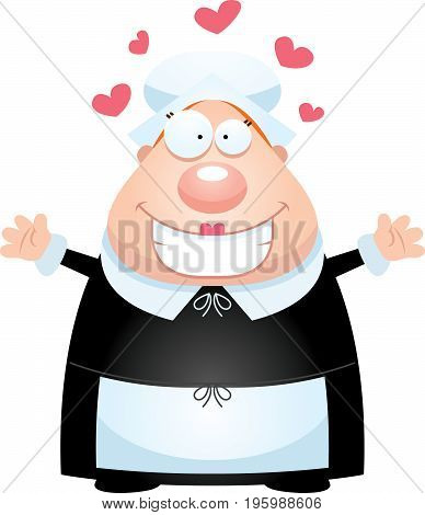 Cartoon Pilgrim Hug