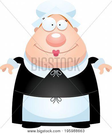 Happy Cartoon Pilgrim