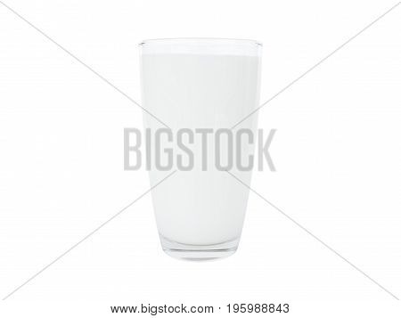 Milk glass isolated on a white background.