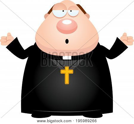 Confused Cartoon Priest