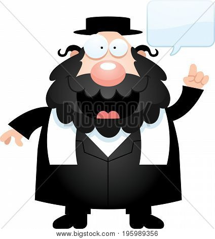 Cartoon Rabbi Talking