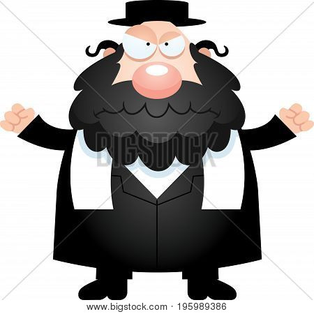 Angry Cartoon Rabbi