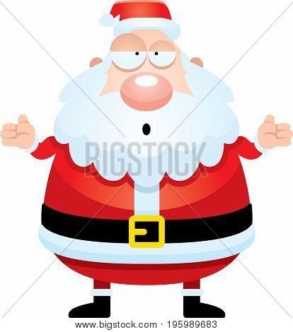 Confused Cartoon Santa Claus