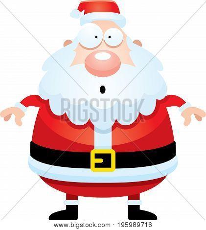 Surprised Cartoon Santa Claus