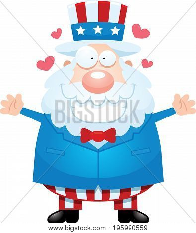 Cartoon Uncle Sam Hug