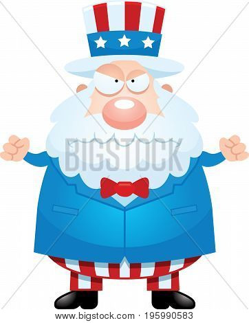 Angry Cartoon Uncle Sam