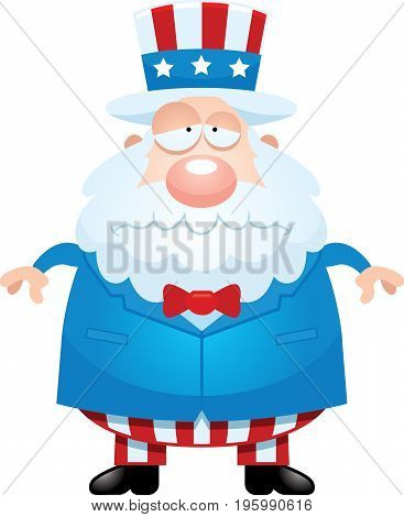Sad Cartoon Uncle Sam