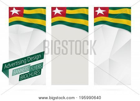 Design Of Banners, Flyers, Brochures With Flag Of Togo.