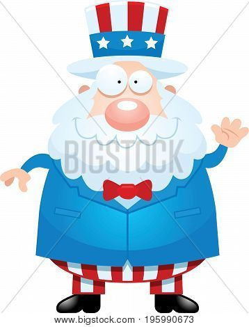 Cartoon Uncle Sam Waving
