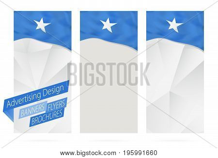 Design Of Banners, Flyers, Brochures With Flag Of Somalia.