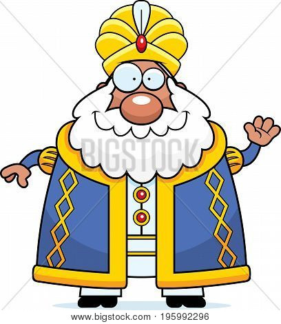 Cartoon Sultan Waving