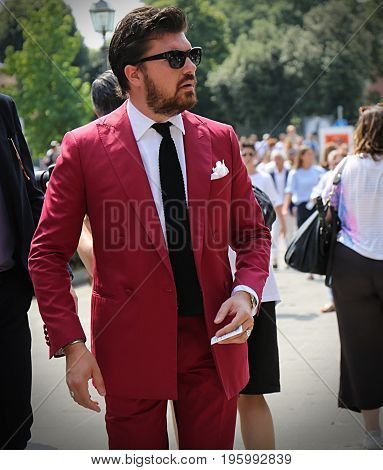 FLORENCE- 14 June 2017 Denis Frison on the street during the Pitti